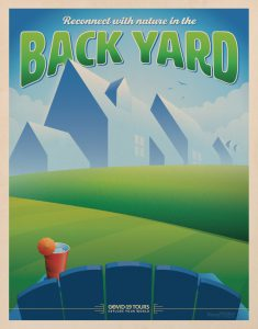 BackYard Travel Poster