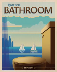 Bathroom Travel Poster